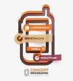 Concept infographic d'icône de smartphone de vecteur Photo libre de droits