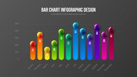 Concept infographic d'illustration de vecteur de présentation d'affaires étonnantes Les données d'entreprise d'analytics de vente illustration stock