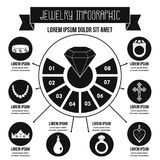Concept infographic de bijoux, style simple Images stock