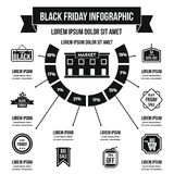 Concept infographic de Black Friday, style simple Images libres de droits