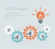 Concept infographic de calibre de travail d'équipe de processus moderne plat de style Photos libres de droits