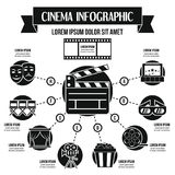 Concept infographic de cinéma, style simple Photos stock