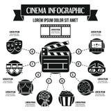 Concept infographic de cinéma, style simple Photos stock