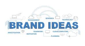 Concept infographic de graphique de conception des textes d'idées de marque illustration de vecteur