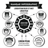 Concept infographic de hangar, style simple Image stock