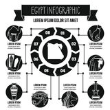 Concept infographic de l'Egypte, style simple Images stock