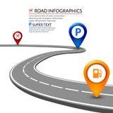 concept infographic de la route 3d sur un fond blanc Conception d'élément de route d'affaires illustration libre de droits