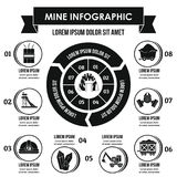 Concept infographic de mine, style simple Image libre de droits