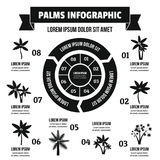Concept infographic de paumes, style simple Photographie stock
