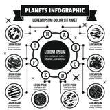 Concept infographic de planètes, style simple Photo stock