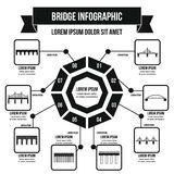 Concept infographic de pont, style simple Photographie stock libre de droits