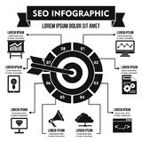 Concept infographic de SEO, style simple Photos libres de droits