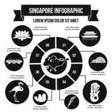 Concept infographic de Singapour, style simple Image stock