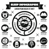 Concept infographic de sommeil, style simple Photographie stock libre de droits
