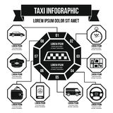 Concept infographic de taxi, style simple Photos libres de droits