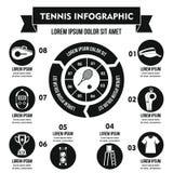 Concept infographic de tennis, style simple illustration stock