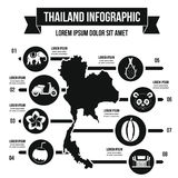 Concept infographic de voyage de la Thaïlande, style simple Photo stock