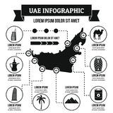 Concept infographic des EAU, style simple Photos stock