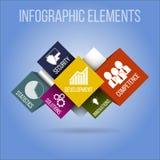 concept infographic Dirigez les éléments et les icônes infographic sur le fond bleu Images libres de droits