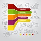 Concept infographic et tiré par la main de commercialisation Photos libres de droits