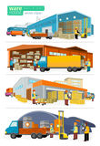 Concept Infographics Equipment Warehouse Royalty Free Stock Images