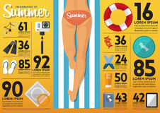 The concept of infographics for summer  travel planning. Vector. Stock Photo