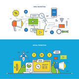 Concept - information technology, promo, strategy, media, learning and education. Royalty Free Stock Image