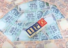 Concept initial d'appel public à l'épargne (IPO) Photo stock