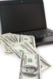 Concept inkomen door Internet royalty-vrije stock afbeeldingen