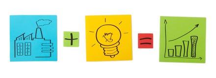 Concept innovatie. Gekleurde document bladen. royalty-vrije stock fotografie