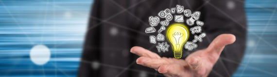 Concept innovatief idee royalty-vrije illustratie