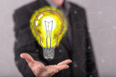 Concept of innovative idea Royalty Free Stock Images