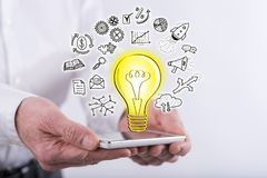 Concept of innovative idea Stock Photo