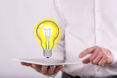 Concept of innovative idea Royalty Free Stock Photos