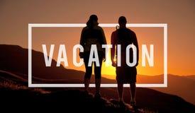 Concept insouciant de relaxation de liberté de vacances de voyage de vacances image libre de droits