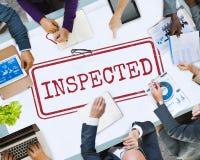 Concept inspecté de graphique de sélection de règlements d'approbation Photos libres de droits
