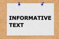 Concept instructif des textes illustration libre de droits