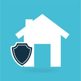 Concept insurance house money security design. Illustration Stock Photo