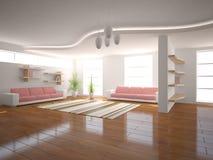 Concept intérieur blanc Photographie stock libre de droits