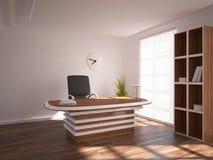 Concept intérieur blanc de lieu de travail Photographie stock libre de droits