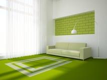 Concept intérieur vert Photos stock