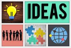 Concept intellectuel de sagesse d'intelligence d'innovation d'idées Photo libre de droits