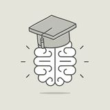 Concept of intelligence and education Royalty Free Stock Photos