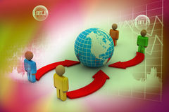 Concept of interaction of different groups of peop Royalty Free Stock Photo