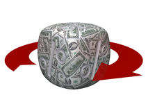 Concept of interest rates. Cube with a percent sign (sales or financial concept Royalty Free Stock Photo