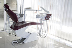Concept - interior of new modern dental clinic office with chair.. Concept of dental. stomatology concept - interior of new modern dental clinic office with royalty free stock photo