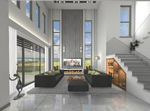 The concept of interior-skies in architecture royalty free stock images