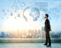 Concept international d'affaires Image stock