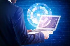 Concept international d'affaires et de technologie Images stock