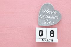 Concept international de jour de femmes Image de vue supérieure Photo stock